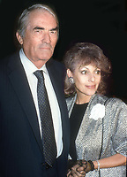 #GregoryPeck and wife #VeroniquePeck 1986<br /> Photo By Adam Scull/PHOTOlink.net