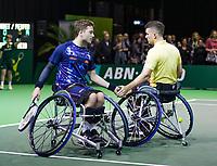 Rotterdam, The Netherlands, 14 Februari 2019, ABNAMRO World Tennis Tournament, Ahoy, Wheelchair final doubles, Alfie Hewett (GBR) / Gorden Reid (GBR), <br /> Photo: www.tennisimages.com/Henk Koster