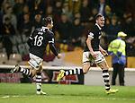 Keith Watson celebrates his goal for Dundee Utd