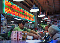 Seafood shop at the Reading Terminal Market, shop, USA