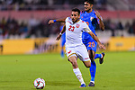 Jamal Rashed Abdulrahman of Bahrain (L) fights for the ball with Pritam Kotal of India during the AFC Asian Cup UAE 2019 Group A match between India (IND) and Bahrain (BHR) at Sharjah Stadium on 14 January 2019 in Sharjah, United Arab Emirates. Photo by Marcio Rodrigo Machado / Power Sport Images