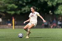NEWTON, MA - SEPTEMBER 12: Michela Agresti #23 of Boston College passes the ball during a game between Holy Cross and Boston College at Newton Campus Soccer Field on September 12, 2021 in Newton, Massachusetts.