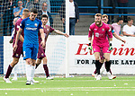 Montrose v St Johnstone…21.07.18…  Links Park    League Cup<br />A furious Zander Clark shouts at his team mates after allowing Montrose a scoring opportunity<br />Picture by Graeme Hart. <br />Copyright Perthshire Picture Agency<br />Tel: 01738 623350  Mobile: 07990 594431