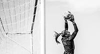 COMMERCE CITY, CO - OCTOBER 25: Aubrey Bledsoe of the USWNT makes a save at Dick's Sporting Goods training fields on October 25, 2020 in Commerce City, Colorado.