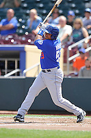 Andrew Brown #59 of the Las Vegas 51s swings against the Omaha Storm Chasers at Werner Park on August 17, 2014 in Omaha, Nebraska. The Storm Chasers  won 4-0.   (Dennis Hubbard/Four Seam Images)