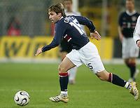 Bobby Convey runs with the ball at Signal Iduna Park, Dortmund, Germany, March 22, 2006. Germany won 4-1.