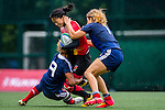 France vs China during the Day 1 of the IRB Women's Sevens Qualifier 2014 at the Skek Kip Mei Stadium on September 12, 2014 in Hong Kong, China. Photo by Aitor Alcalde / Power Sport Images