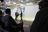 Yoni Assia, eToro, and David Rowan, editor, Wired.  Wired Money fintech event, Level39, Canary Wharf.