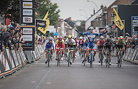 Roy Jans (BEL/Wanty-Groupe Gobert) wins the bunch sprint, of which the finish line is actually ON the Belgian/Dutch border, of the last road race of the 2016 season in Belgium/The Netherlands<br /> <br /> 83rd Nationale Sluitingsprijs Putte-Kapellen 2016 (UCI Europe Tour cat 1.1 / 189km)