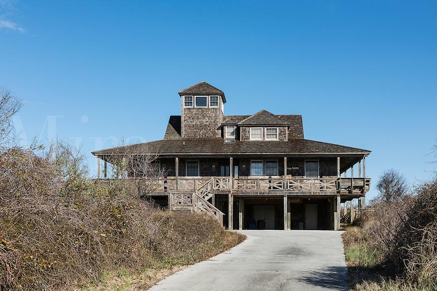 Rustic beach house, Kitty Hawk, Outer Banks, North Carolina, USA