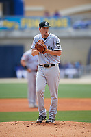 Jackson Generals starting pitcher Taylor Clarke (36) gets ready to deliver a pitch during a game against the Biloxi Shuckers on April 23, 2017 at MGM Park in Biloxi, Mississippi.  Biloxi defeated Jackson 3-2.  (Mike Janes/Four Seam Images)