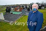 Fr Kevin McNamara, parish priest of Moyvane standing in the local graveyard