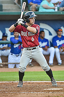 Nick Dini (6) of the Idaho Falls Chukars at bat against the Ogden Raptors in Pioneer League action at Lindquist Field on August 27, 2015 in Ogden, Utah. Ogden defeated the Chukars 4-3.  (Stephen Smith/Four Seam Images)