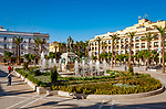 Spanien, Andalusien, Provinz Cádiz, Jerez de la Frontera: Plaza del Arenal mit Reiterstandbild | Spain, Andalusia, Province Cádiz, Jerez de la Frontera: Plaza del Arenal, equestrian statue