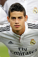 James of Real Madrid during the Champions League group B soccer match between Real Madrid and FC Basel 1893 at Santiago Bernabeu Stadium in Madrid, Spain. September 16, 2014. (ALTERPHOTOS/Caro Marin) /NortePhoto.com