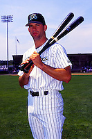 New Haven Ravens first baseman Todd Helton poses for a photo prior to a game at Yale Field in New Haven, Connecticut during the 1996 season.  (Ken Babbitt/Four Seam Images)