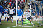 St Johnstone v Rangers...14.01.12  .Nikica Jelavic celebrates his second goal.Picture by Graeme Hart..Copyright Perthshire Picture Agency.Tel: 01738 623350  Mobile: 07990 594431