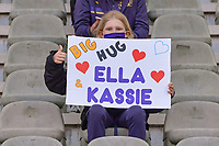 Big hug Ella and Kassie pictured during a female soccer game between RSC Anderlecht Dames and Oud Heverlee Leuven on the seventh matchday of play off 1 of the 2020 - 2021 season of Belgian Womens Super League , saturday 15 th of May 2021  in Brussels , Belgium . PHOTO SPORTPIX.BE   SPP   STIJN AUDOOREN