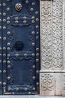 Antigua, Guatemala.  Stonework and  Doorway of Private Residence.