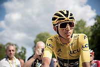 yellow jersey / GC leader / Tour 2019 winner at 22yr; Egan Bernal (COL/Ineos) at the start in Rambouillet<br /> <br /> Stage 21: Rambouillet to Paris(128km)<br /> 106th Tour de France 2019 (2.UWT)<br /> <br /> ©kramon