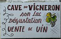 Europe/France/Pays de la Loire/Maine-et-Loire/Env de Saumur : Enseigne d'un vigneron