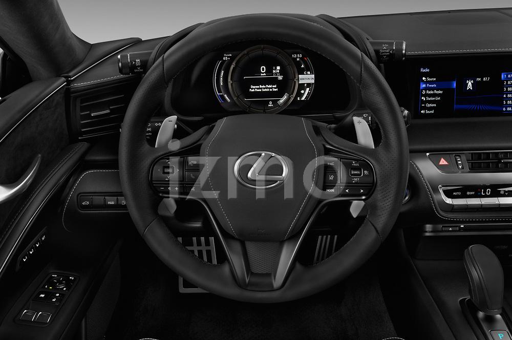 Car pictures of steering wheel view of a 2020 Lexus RX 350L 4x2 Select Doors Door SUV