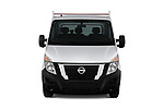Car photography straight front view of a 2020 Nissan NV400-Tipper Acenta 2 Door Chassis Cab Front View