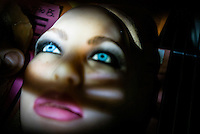 One of the heads of a 'Real Doll' at the San Marcos headquarters of Real Dolls. The Real Doll is a high-end sex doll created by Matt McMullen. Mr McMullen is now trying to combine different technologies to make a sex robot. He is experimenting with Artificial Intelligence, Virtual Reality and Animatronics.