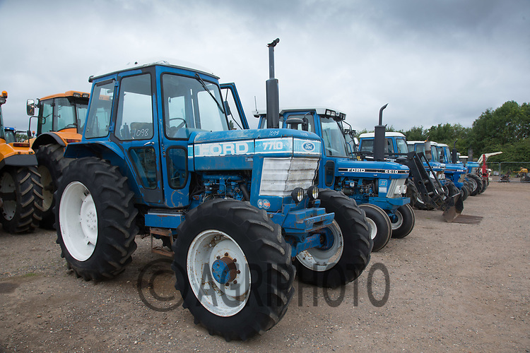 Used tractors in an auction <br /> Picture Tim Scrivener 07850 303986<br /> ….covering agriculture in the UK….
