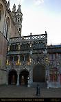 Basilica of the Holy Blood at Sunrise, 12th-15th century, Burg Square, Bruges, Brugge, Belgium