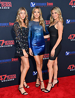 "LOS ANGELES, USA. August 14, 2019: Scarlet Stallone, Sistine Stallone & Sophia Stallone at the premiere of ""47 Meters Down: Uncaged"" at the Regency Village Theatre.<br /> Picture: Paul Smith/Featureflash"