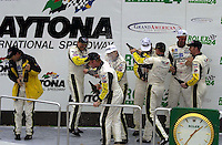 The Corvette team sprays the champagne..39th Rolex 24 at Daytona, 3/4 February,2001 Daytona International Speedway  Daytona Beach,Florida,USA.©F.Peirce Williams 2001 .