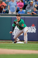 Norfolk Tides first baseman Ryan Mountcastle (20) during an International League game against the Buffalo Bisons on June 21, 2019 at Sahlen Field in Buffalo, New York.  Buffalo defeated Norfolk 1-0, the second game of a doubleheader.  (Mike Janes/Four Seam Images)
