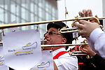 May 16, 2014: Sam Grossman, one third of the Belmont Stakes Buglers, plays the call to the post before race 1 on Black-Eyed Susan Day at Pimlico Race Course in Baltimore, MD. ©Joan Fairman Kanes/ESW/CSM