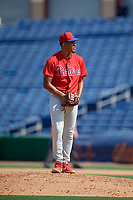 Philadelphia Phillies pitcher Jose Ulloa (61) during an Instructional League game against the Toronto Blue Jays on September 17, 2019 at Spectrum Field in Clearwater, Florida.  (Mike Janes/Four Seam Images)