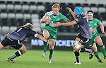 Ospreys pair Duncan Jones and Justin Tipuric close the gap on Connacht replacement Darragh Leader.<br /> Guiness Pro12<br /> Ospreys v Connacht<br /> Liberty Stadium<br /> 31.10.14<br /> ©Steve Pope-SPORTINGWALES