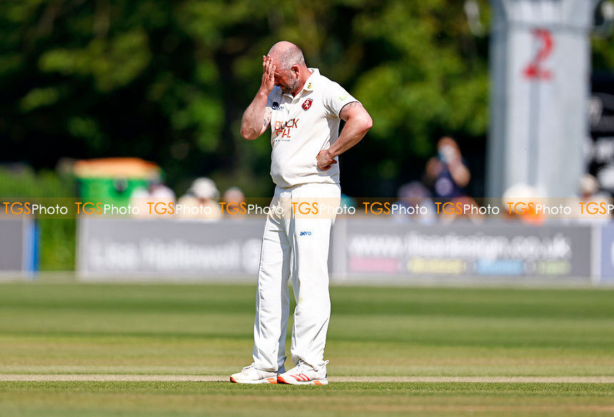 Darren Stevens of Kent feels the frustration during Kent CCC vs Northamptonshire CCC, LV Insurance County Championship Group 3 Cricket at The Spitfire Ground on 3rd June 2021