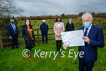 The directors of the Listowel Food Hub at site of planned Food Hub in Clieveragh Ind Estate in Listowel on Saturday. Front right: Jimmy Deenihan. Back l to r: John O'Connor, Marie Lynch, James Kenny, Brenda Pierce and Cal Flynn