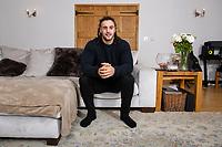Pictured: Josh Navidi at his home in Boverton, Llantwitt Major, Cardiff, Wales, UK. Friday 11 January 2019