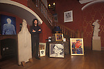 Ivor Braka art dealer at home London 1990s, UK