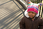 Preschool Day Care 2 year old girl crying outside at playground separation