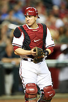 Arizona Diamondbacks catcher Miguel Montero #26 during a National League regular season game against the Colorado Rockies at Chase Field on October 3, 2012 in Phoenix, Arizona. Arizona defeated Colorado 5-3. (Mike Janes/Four Seam Images)