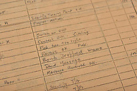 BNPS.co.uk (01202 558833)<br /> Pic: AnthonyCribb/BNPS<br /> <br /> Pictured: Sergeant Nicholson's account of the raid.<br /> <br /> Rare navigation sheets which provide a gripping blow-by-blow account of the famous Dambusters raid of World War Two have come to light 78 years on.<br /> <br /> They were filled in by Sergeant Vivian Nicholson who was a navigator on one of the 19 Lancaster bombers involved in Operation Chastise on the night of May 16, 1943.<br /> <br /> As well as jotting down technical information such as wind speeds and directions, Sgt Nicholson used short phrases to offer a 'real-time' commentary of the perilous mission.