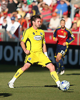 Columbus Crew Midfielder Danny O'Rourke (5) in the Real Salt Lake 1-0 win over Columbus Crew in Game 1 of the Semi-Finals of the MLS Playoffs on October 31, 2009 at  Rio Tinto Stadium in Sandy, Utah