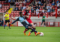 Jason Banton of Wycombe Wanderers about to shoot during the Sky Bet League 2 match between Crawley Town and Wycombe Wanderers at Checkatrade.com Stadium, Crawley, England on 29 August 2015. Photo by Liam McAvoy.