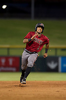 AZL Diamondbacks second baseman Eddie Hernandez (2) hustles towards third base against the AZL Cubs on August 11, 2017 at Sloan Park in Mesa, Arizona. AZL Cubs defeated the AZL Diamondbacks 7-3. (Zachary Lucy/Four Seam Images)