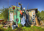 shack on Yellowknife's colourful waterfront