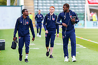 Fleetwood Town arrive before the Sky Bet League One match between Plymouth Argyle and Fleetwood Town at Home Park, Plymouth, England on 28 August 2021. Photo by Sam Fielding / PRiME Media Images.