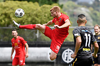 Cory Mitchell of Canterbury United during the ISPS Handa Men's Premiership - Team Wellington v Canterbury Utd at David Farrington Park, Wellington on Saturday 19 December 2020.<br /> Copyright photo: Masanori Udagawa /  www.photosport.nz