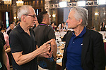 Michael Douglas (right) and Michael Shamberg (left) at the China Film Makers Forum on the sidelines of the World Celebrity Pro-Am 2016 Mission Hills China Golf Tournament on 21 October 2016, in Haikou, China. Photo by Marcio Machado / Power Sport Images